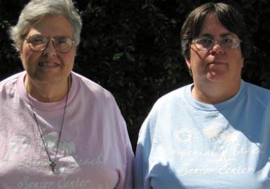 Two women outside