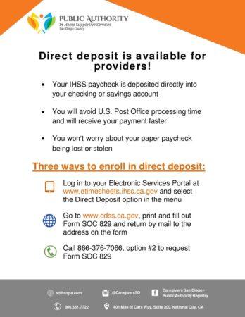 Prov Serv Direct Deposit 8 18
